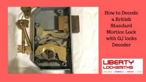 Decode a British Standard Mortice Lock with GJ locks Decoder