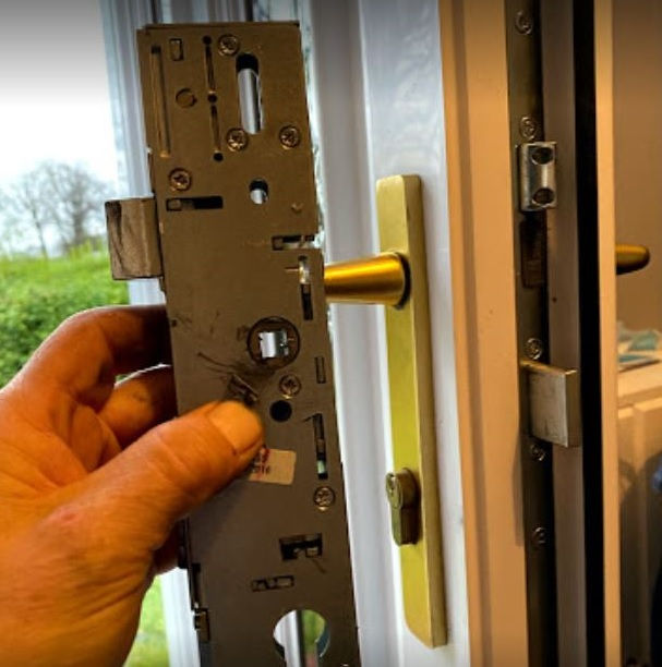 Multipoint locking system for UPVC door fitted by Glasgow locksmith